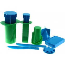 Plastic molds for making castles