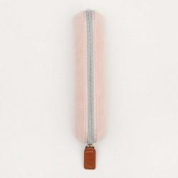 Pencil case mini pink velvet