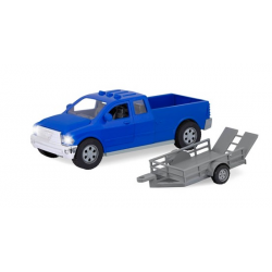 Pick up truck with trailer