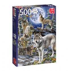 Jumbo Puzzle Herd of Wolves in Winter 500 Pieces