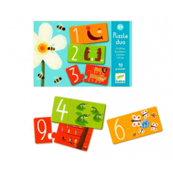 Puzzle duo Numbers and Animals