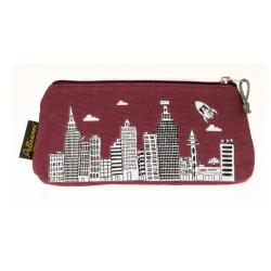 Red city pencil case