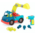 Crane truck with tools