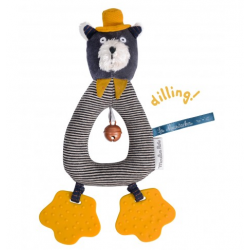 Ring rattle Lulu Les Mustaches
