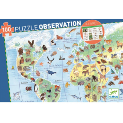 Puzzle Observation Animals of the World