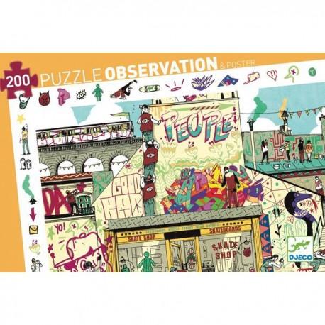 Puzzle d'observació Street art