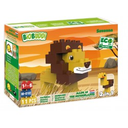 Eco-friendlies blocks Savanna lion 11 pieces