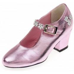 Metallic pink shoes