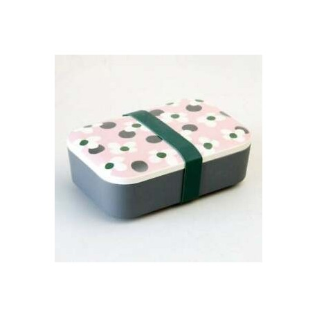 Floral Spot Bamboo Lunch Box