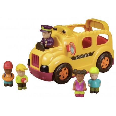 Autobus con pasajeros y conductor