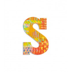 Wood letters S